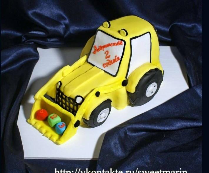 """Торт """"Желтый трактор"""""""