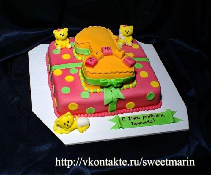 "Торт ""Желтая единичка"""
