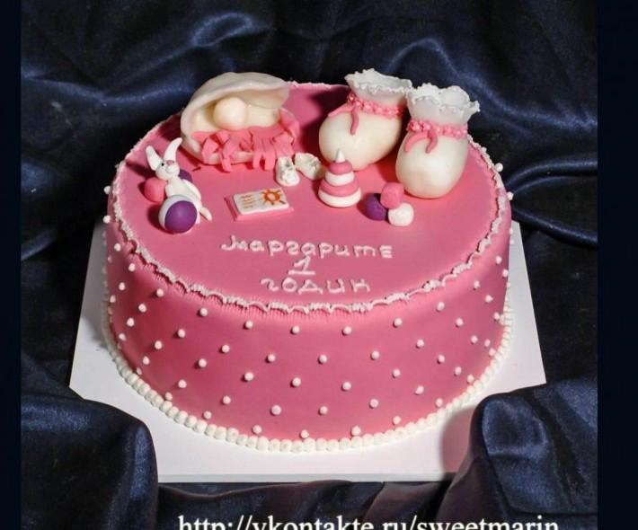 """Торт """"Первый тортик для Маргариты"""""""