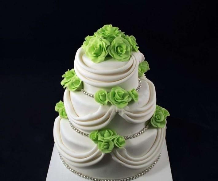 """Торт """"Зеленая свадьба"""""""
