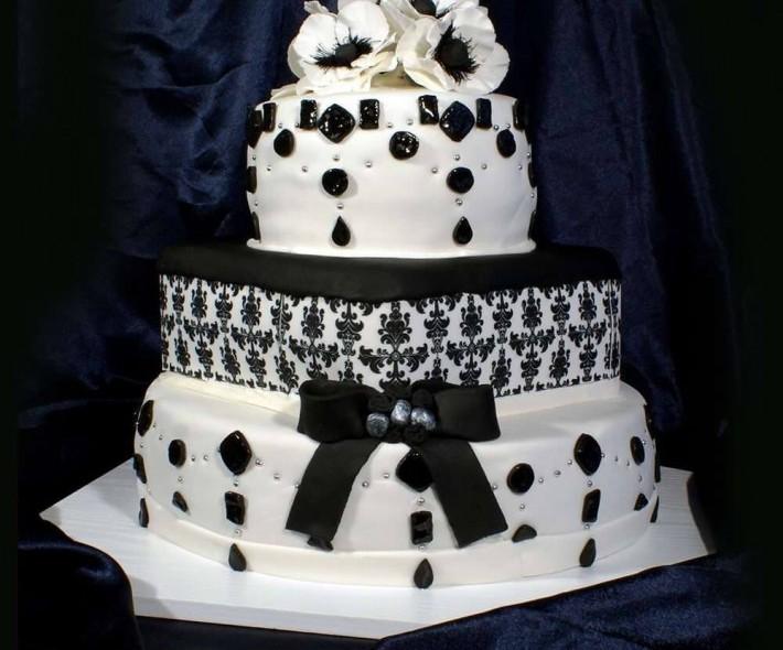 """Торт """"Черное и белое"""""""