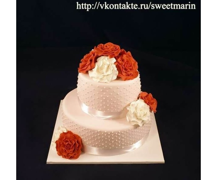 """Торт """"Коралловая свадьба"""""""