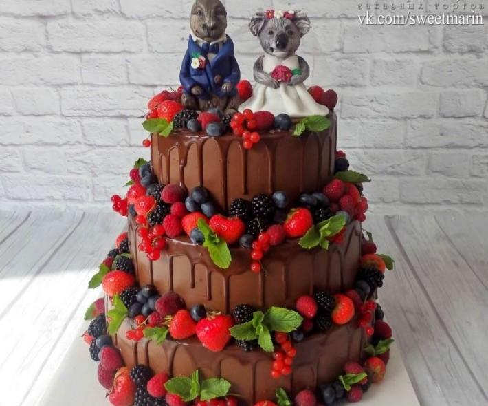 """Торт """"Свадебный шоколадный"""""""