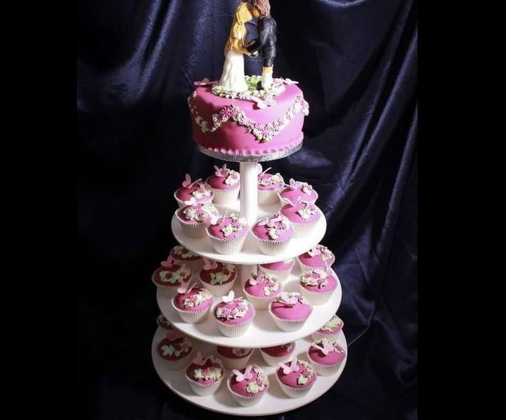 """Торт """"Розовые бабочки"""""""