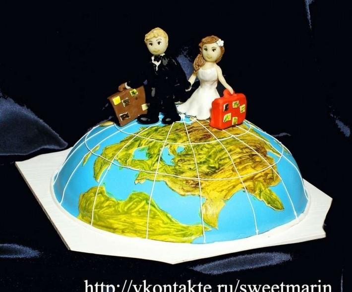 """Торт """"Весь мир для нас"""""""