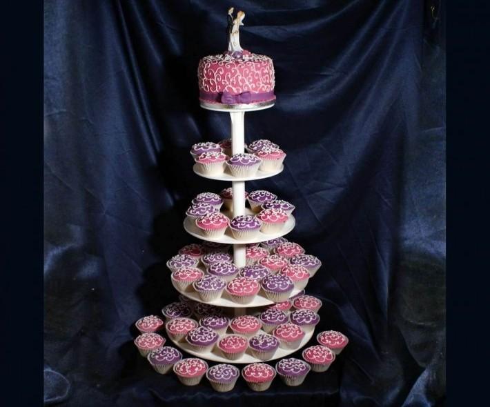 """Торт с капкейками """"Для тебя"""""""