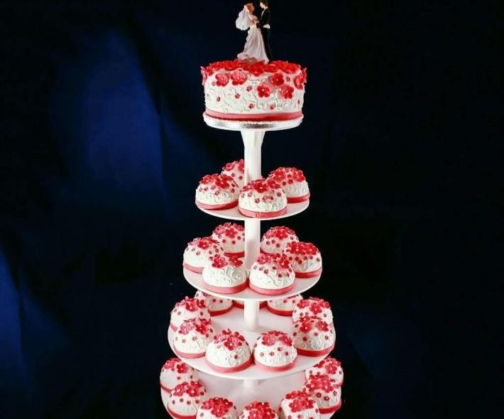 "Торт с капкейками ""Цветочная фантазия"""