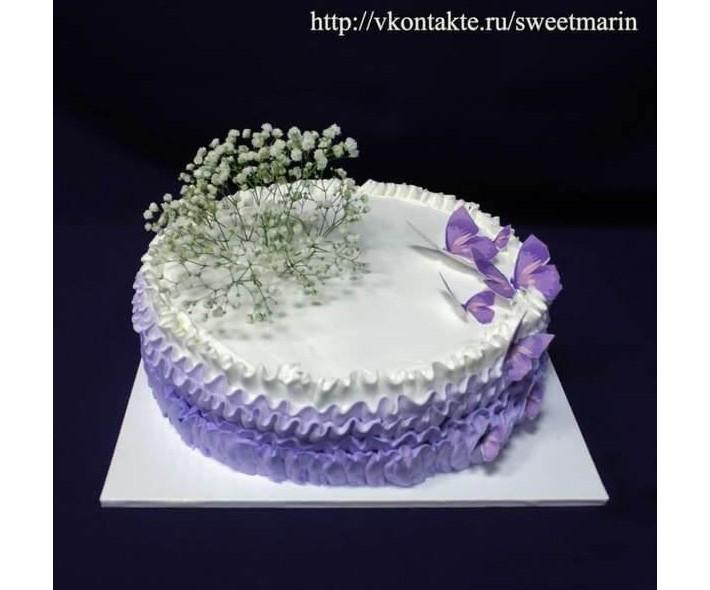 """Торт """"Фиолетовые бабочки"""""""