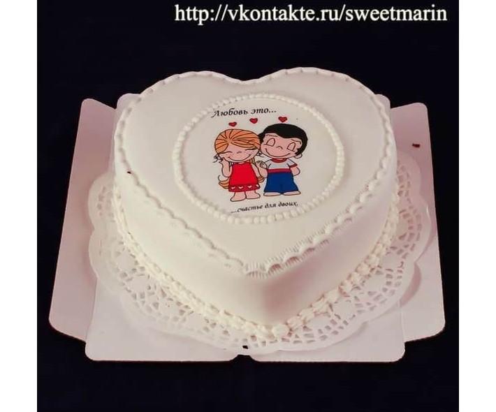 """Торт """"Любовь-это"""""""