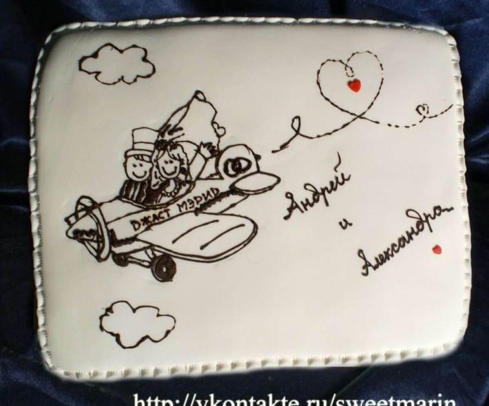 "Торт ""Свадьба в облаках"""