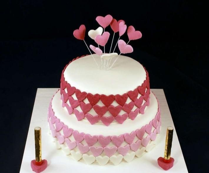 "Торт ""Полет сердец"""