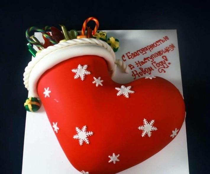 "Торт ""Новогодний носок"""