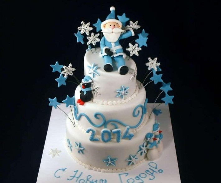 """Торт """"Звездный Новый год"""""""