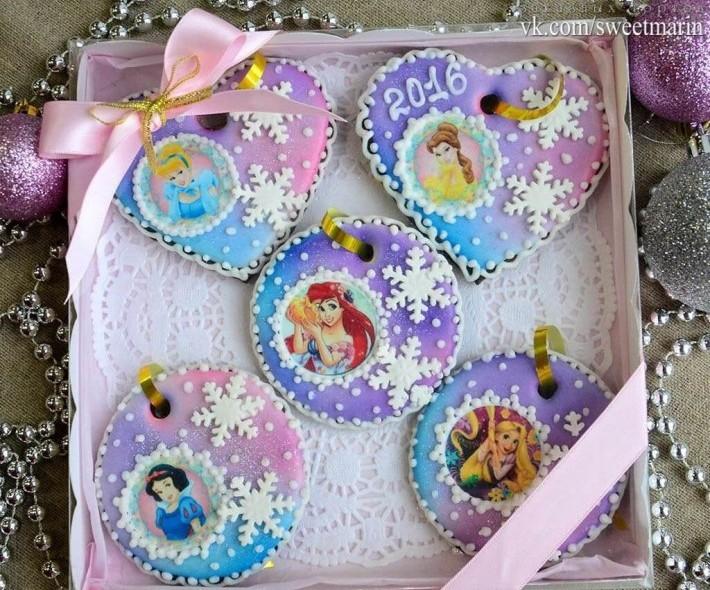 Набор пряников детский для девочки с принцессами