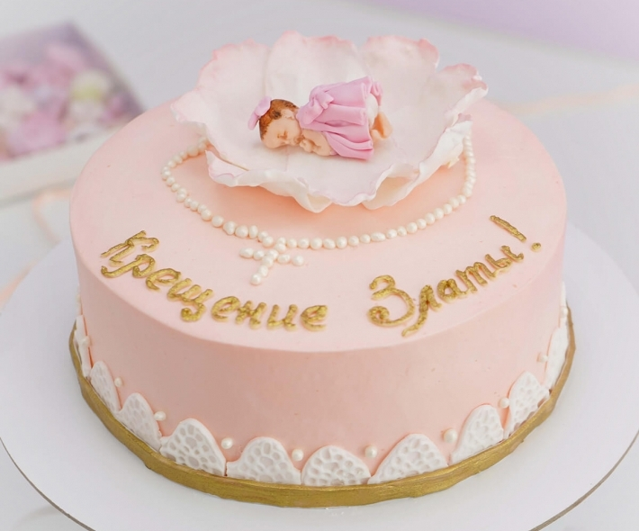 "Торт ""Крещение девочки"""