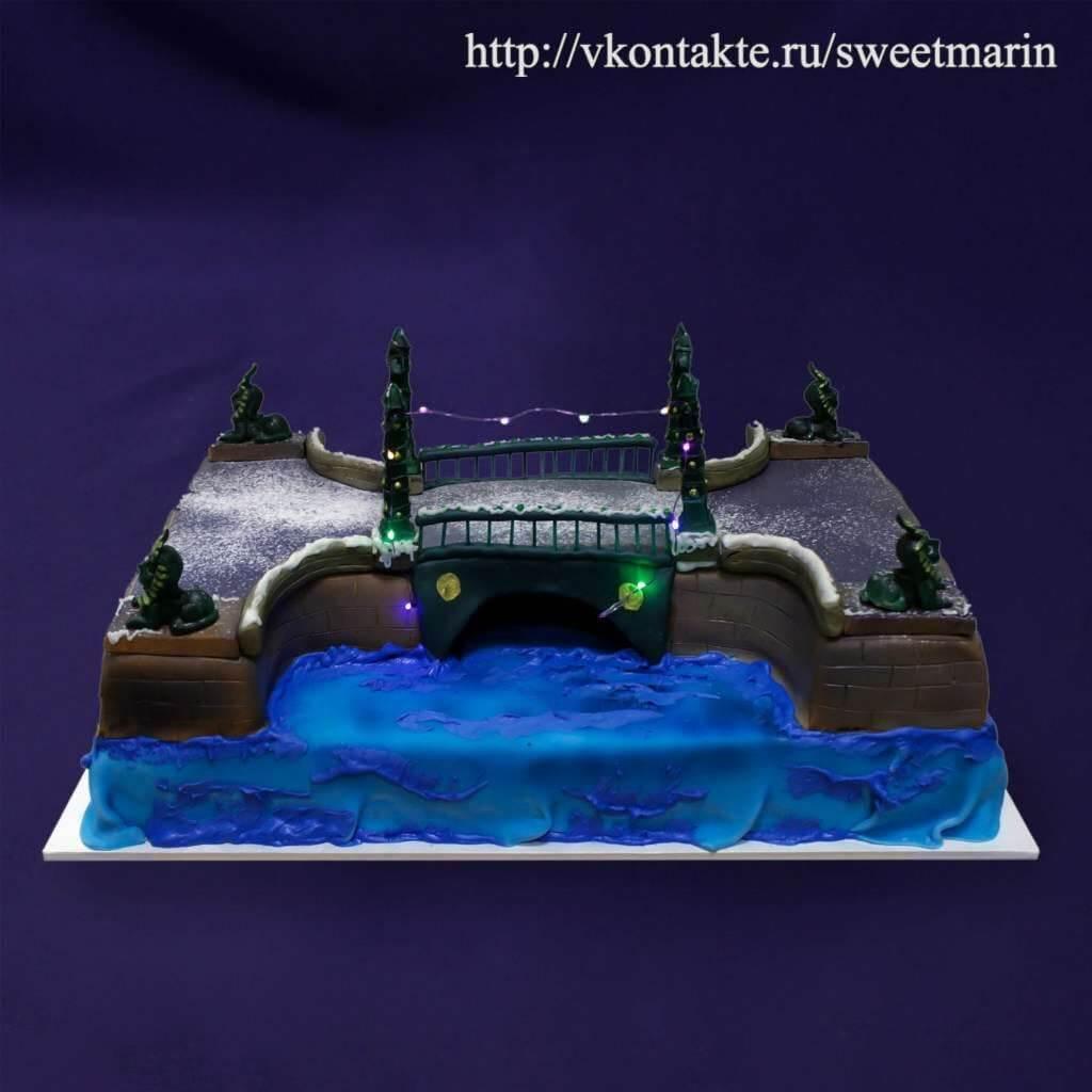 """Торт """"Мост со сфинксами"""""""