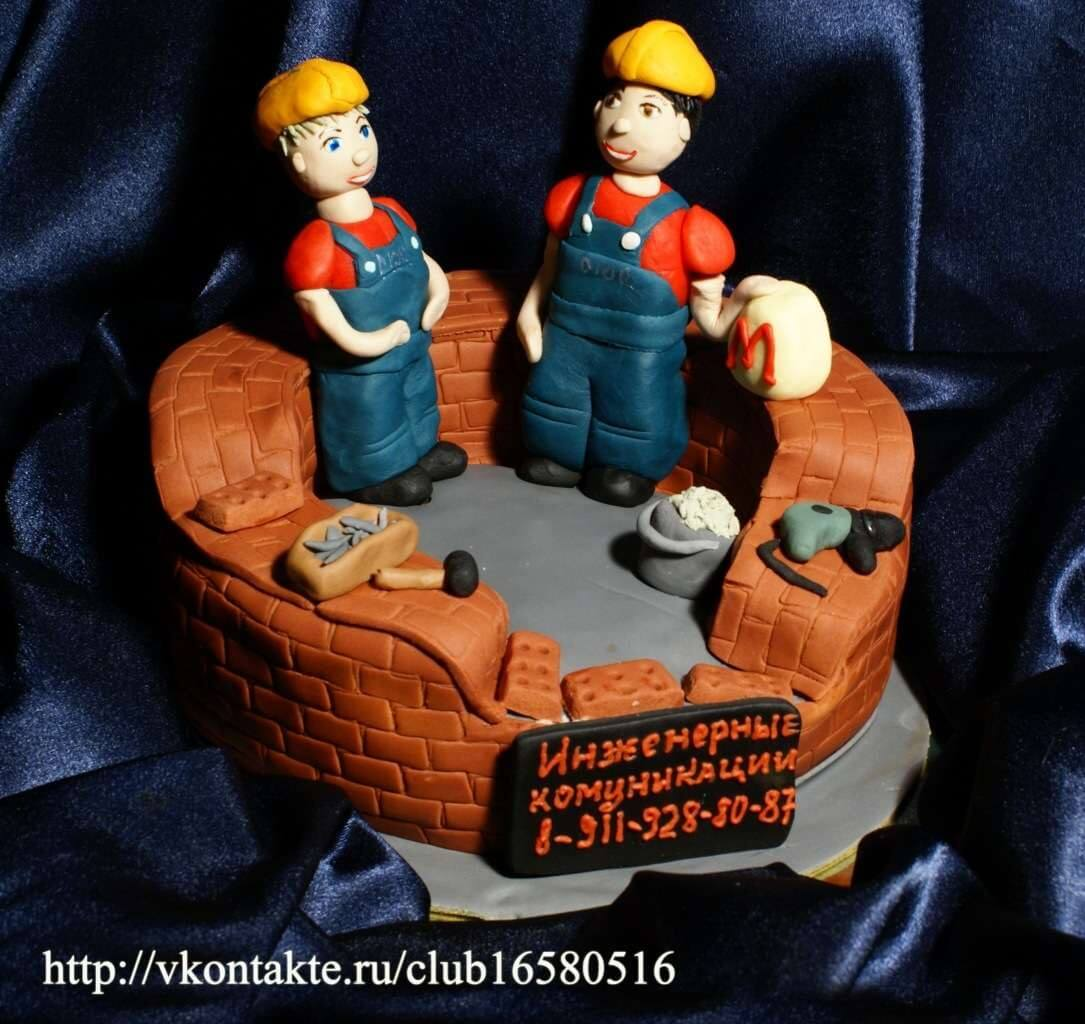 """Торт """"Строители"""""""