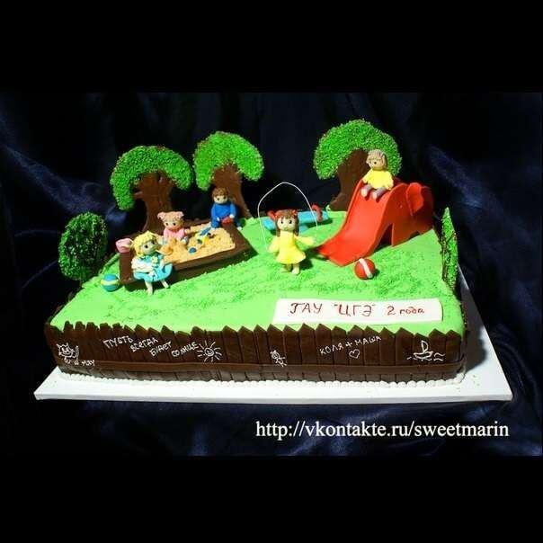 """Торт """"Детская площадка"""""""