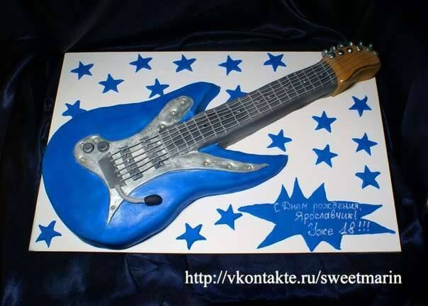 Торт «Гитара»