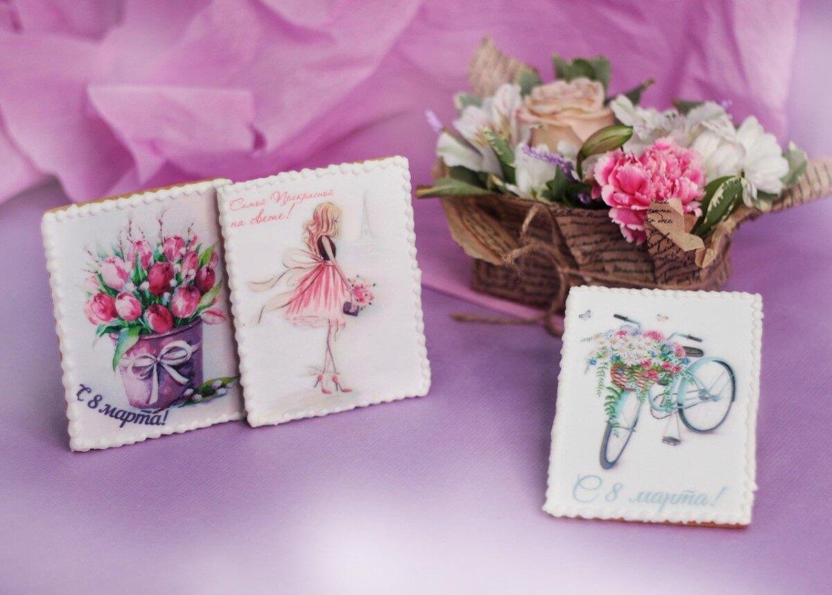 Пряничная открытка на свадьбу