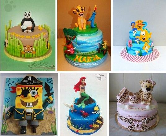 Детские тортики из интернета